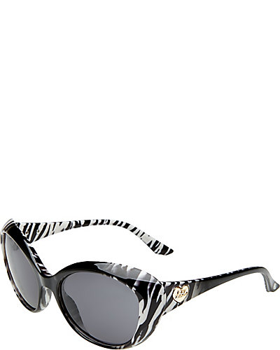ANIMAL PRINT CAT EYE SHADES BLACK-WHITE