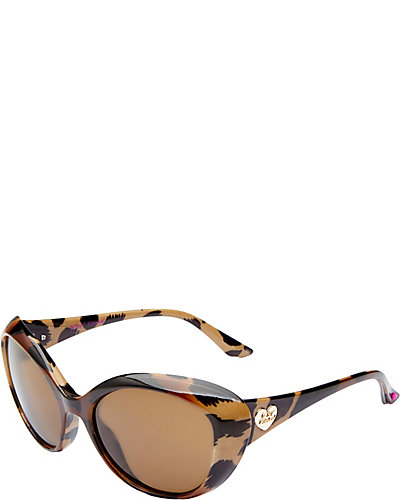 ANIMAL PRINT CAT EYE SHADES BROWN