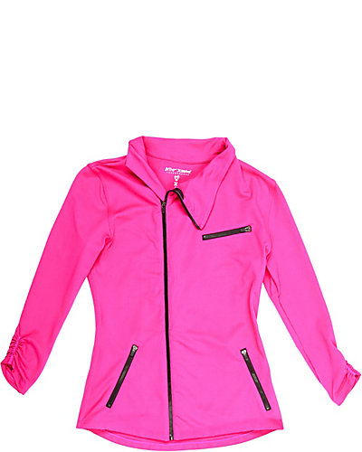 ASYMMETRICAL MILITARY JACKET PINK
