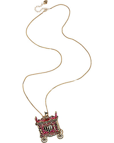 AT THE ZOO CIRCUS CAGE PENDANT FUCHSIA