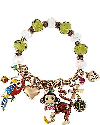AT THE ZOO MONKEY STRETCH BRACELET MULTI