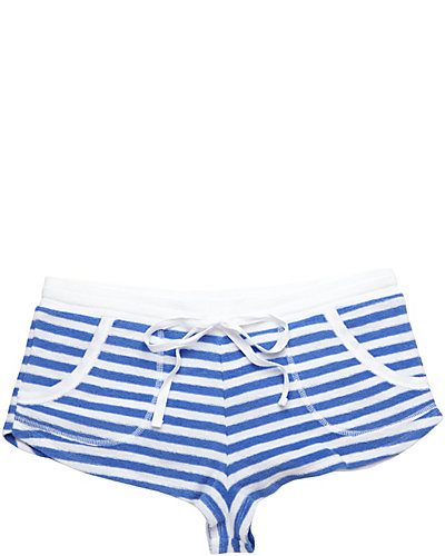 BABY TERRY SHORT BLUE WHITE