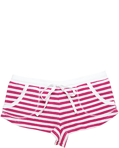 BABY TERRY SHORT PINK WHITE