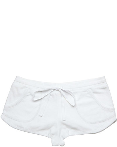 BABY TERRY SHORT WHITE