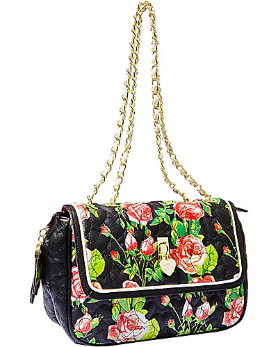 BE MY EVERYTHING FLAPOVER SATCHEL BLACK