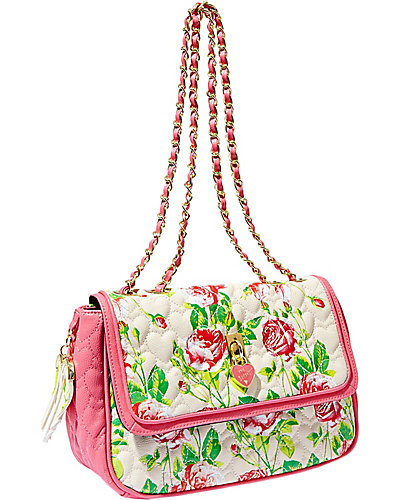 BE MY EVERYTHING FLAPOVER SATCHEL CREAM MULTI