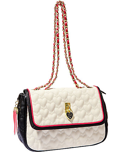 BE MY EVERYTHING FLAPOVER SATCHEL CREAM