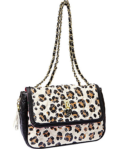 BE MY EVERYTHING FLAPOVER SATCHEL LEOPARD