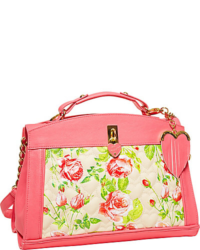 BE MY EVERYTHING TOP HANDLE BAG CREAM