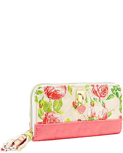 BE MY EVERYTHING ZIP AROUND WALLET CREAM MULTI