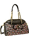 BE MY HONEY BUNS DOME SATCHEL BLACK MULTI