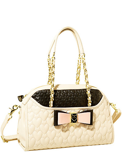 BE MY HONEY BUNS DOME SATCHEL CREAM