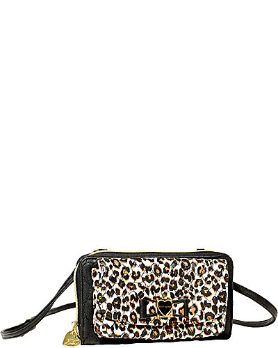 BE MY HONEY BUNS WALLET ON A STRING LEOPARD