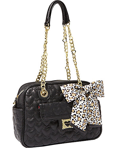 BE MY SWEETHEART SQUARE SATCHEL BLACK