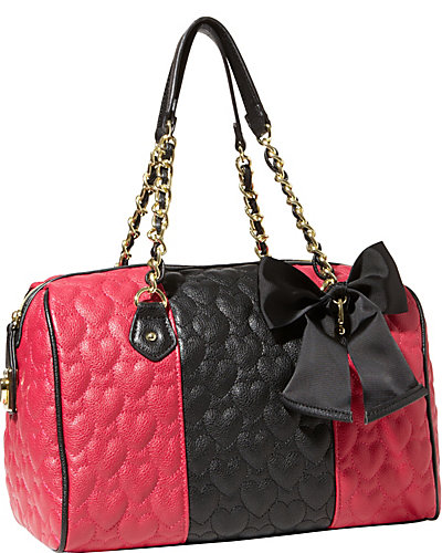 BE MY WONDERFUL SATCHEL BLACK FUCHSIA
