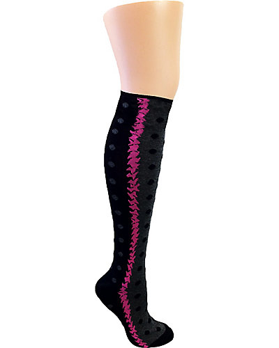BEAM ME UP DOTTIE KNEE SOCK GREY