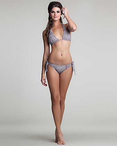 BEE LINE BIKINI BOTTOM BROWN