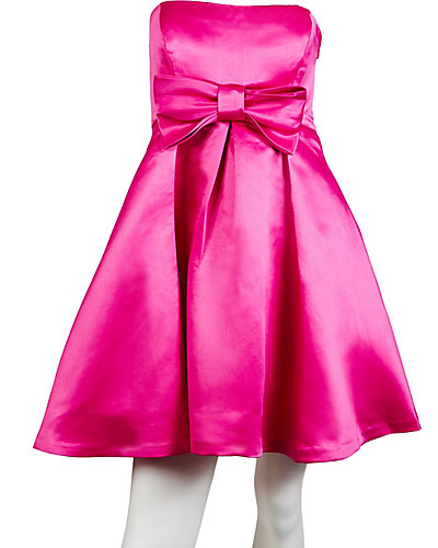 BETSEY BOW PARTY DRESS PINK