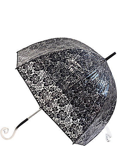 BETSEY BUBBLE STICK UMBRELLA BLACK