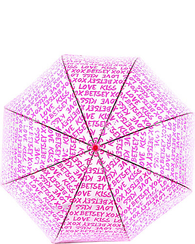 BETSEY GRAFFITI BUBBLE STICK UMBRELLA PINK