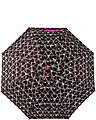 BETSEY HEART PRINTED STICK UMBRELLA BLACK