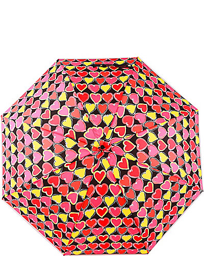 BETSEY HEART PRINTED STICK UMBRELLA MULTI