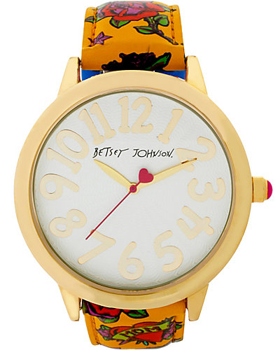 BETSEY LOVES MOMS HEART AND ROSE WATCH MULTI