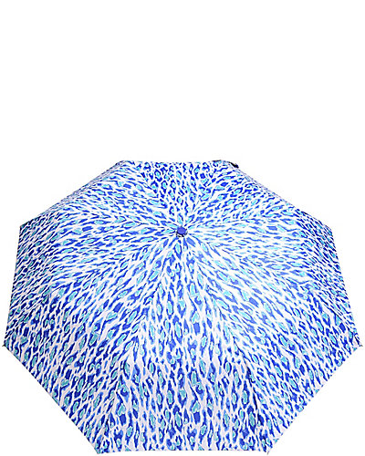 BETSEY PRINTED AUTO OPEN UMBRELLA TOO LEOPARD