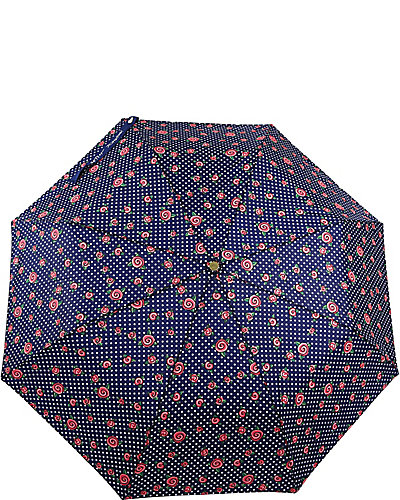 BETSEY PRINTED AUTO OPEN UMBRELLA BLUE