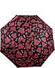 BETSEY PRINTED AUTO OPEN UMBRELLA PINK