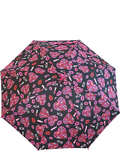 BETSEY PRINTED STICK UMBRELLA PINK
