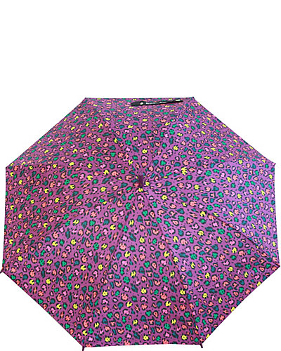 BETSEY PRINTED STICK UMBRELLA PURPLE