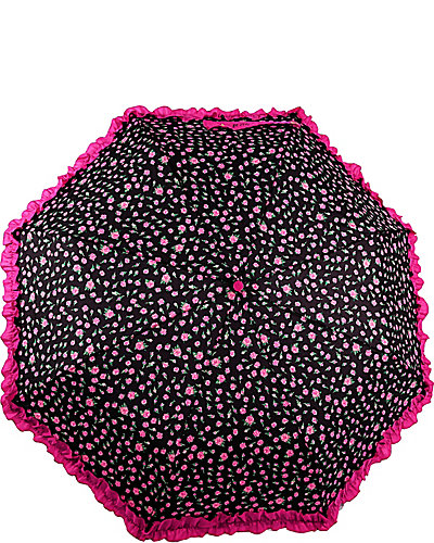 BETSEY RUFFLE EDGE AUTO OPEN UMBRELLA FLORAL