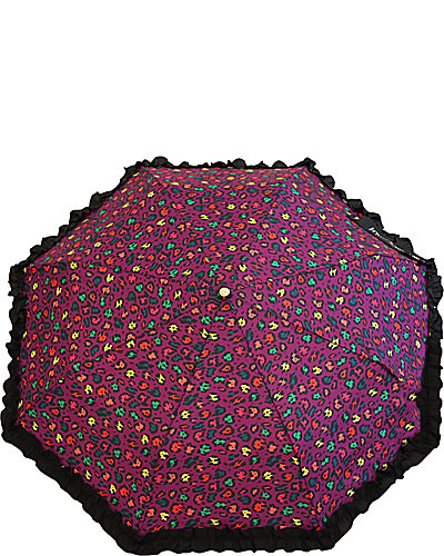 BETSEY RUFFLE MANUAL UMBRELLA PURPLE