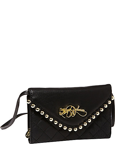 BETSEYS BALL AND CHAIN CLUTCH BLACK