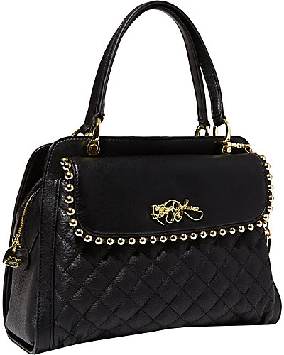 BETSEYS BALL AND CHAIN SATCHEL BLACK