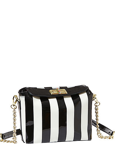 BETSEYS BEST CROSSBODY BAG BLACK-WHITE