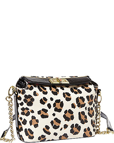 BETSEYS BEST CROSSBODY BAG LEOPARD