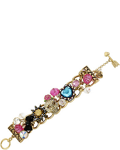 BETSEYS BEST SKULL HEARTS BRACELET MULTI