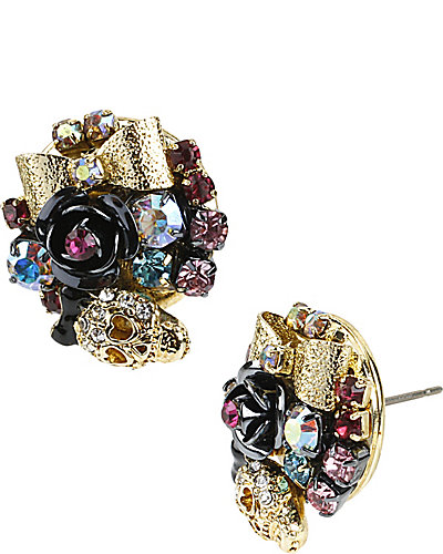 BETSEYS BEST SKULL HEARTS EARRING MULTI
