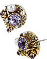 BETSEYS BEST VINTAGE PURPLE EARRING PURPLE