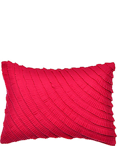BETSEYS BOUDOIR PLEATED RUFFLES PILLOW PINK