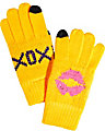 BIG KISSES E-TOUCH GLOVES YELLOW