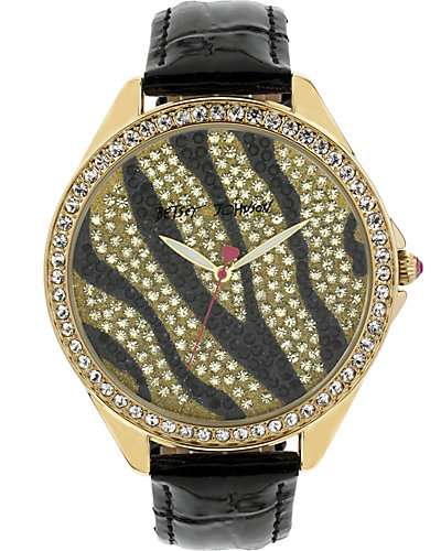 BJS BLACK AND GOLD ZEBRA WATCH BLACK