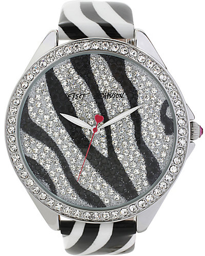 BJS BLACK AND WHITE ZEBRA WATCH BLACK-WHITE