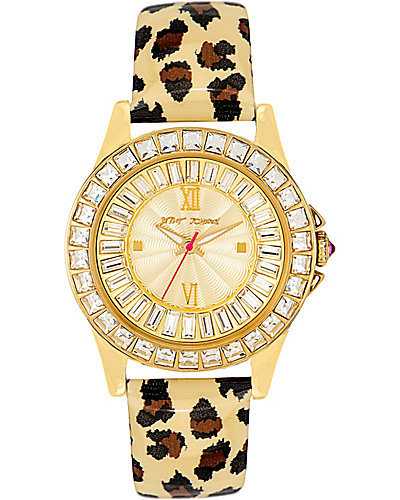 BLING BEZEL LEOPARD WATCH LEOPARD