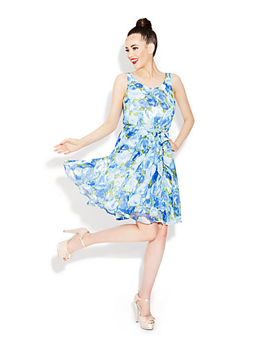 BLUE BAYOU DRESS BLUE