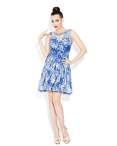BLUE BETSEY FLOWERS DRESS BLUE
