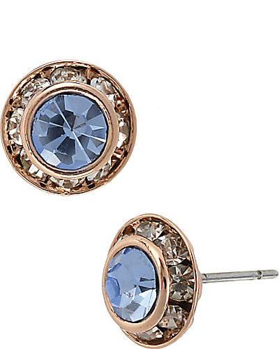 BLUE ROSE SMALL CRYSTAL STUD BLUE