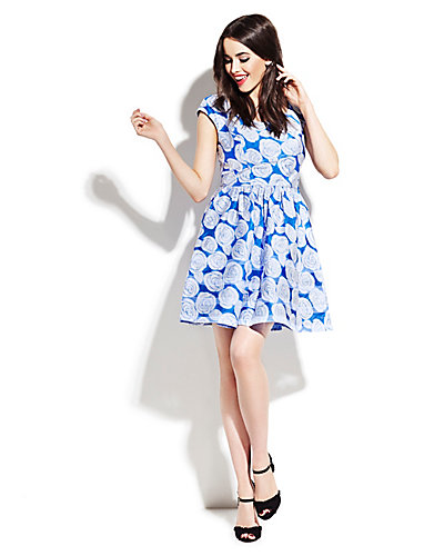 BLUE ROSES PARTY DRESS BLUE